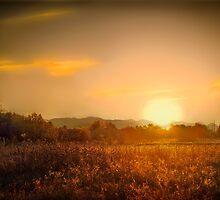 sundown near coker butte  rogue valley by daledaniel