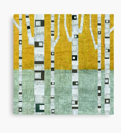 Early Winter Birches Canvas Print