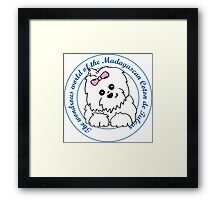 Life circle Coton de Tulear - The wondrous world of the Coton de Tulear Framed Print