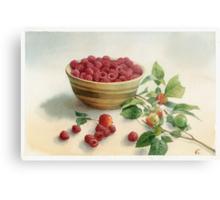 Stillife with raspberries Metal Print