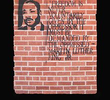 Dr. Martin Luther King, Jr. speaks through wall art by DAdeSimone