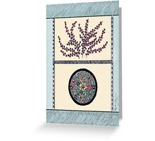 Oriental Flare in Blue Greeting Card