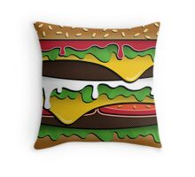 BURGER (Pillow/Tote) Throw Pillow