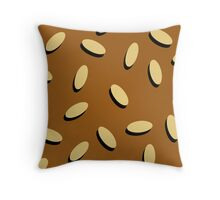BURGER BUN (Pillow) Throw Pillow