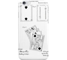 Playing Cards Patent 1876 iPhone Case/Skin