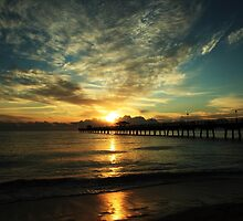 Anglins Fishing Pier by kathy s gillentine