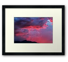 Cotton Candy Clouds II Framed Print