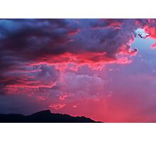 Cotton Candy Clouds II Photographic Print