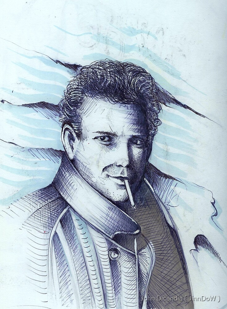 Mickey Rourke ( Pre-Plastic ) by John Dicandia ( JinnDoW )