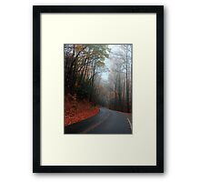 heading down the mountain Framed Print