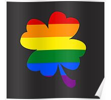 IRELAND GAY PRIDE 4 LEAF CLOVER FLAG Poster