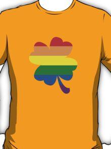 IRELAND GAY PRIDE 4 LEAF CLOVER FLAG T-Shirt