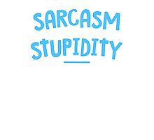 Degree Sarcasm Mens Womens Hoodie / T-Shirt Photographic Print