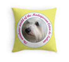 Puppy Face Coton de Tulear - The wonderous world of the Coton de Tulear Throw Pillow