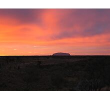 Desert sunrise Photographic Print