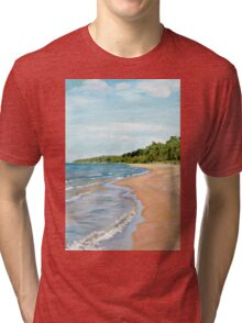 Peaceful Beach Tri-blend T-Shirt