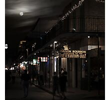 Moon over Bourbon Street - Sting Photographic Print