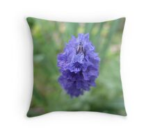 Ruth's Garden - Blue Flower Throw Pillow