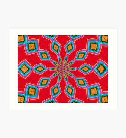 Shapes and Patterns Art Print