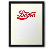 Enjoy Bacon Mens Womens Hoodie / T-Shirt Framed Print