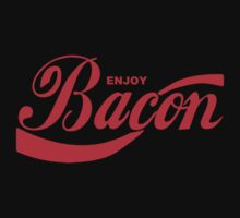 Enjoy Bacon Mens Womens Hoodie / T-Shirt by DarrellHo