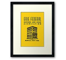 Erie Federal Savings & Loan Framed Print