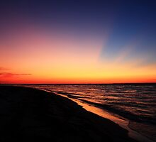 walking the beach at sunrise. by kathy s gillentine