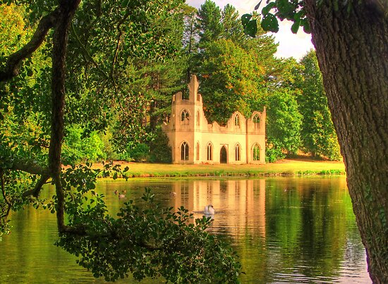 Painshill Park, Swan and Abbey Ruins - HDR by Colin J Williams Photography