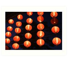 red chinese lights Art Print