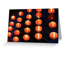 red chinese lights Greeting Card