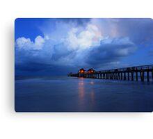 dawn at the pier Canvas Print