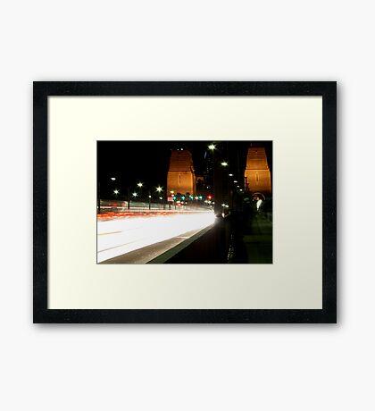 Plasma Fusion - Sydney Harbour Bridge, Australia Framed Print