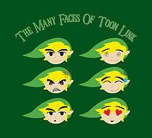 The Many Faces Of Toon Link by unkemptdoodling