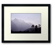 Silhouette, Austria Framed Print