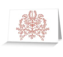 Ukrainian traditional symbol the tree of life Greeting Card