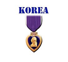 Purple Heart - Korea Photographic Print