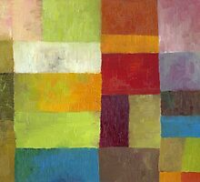 Abstract Color Panels lV by Michelle Calkins