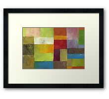 Abstract Color Panels lV Framed Print