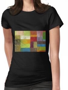 Abstract Color Panels lV Womens Fitted T-Shirt