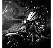 Classic Custom Motorcycles Photographic Print
