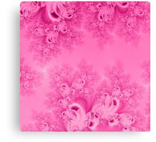 Soft Pink Frost of Morning Fractal Canvas Print