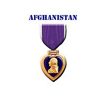 Purple Heart - Afghanistan Photographic Print
