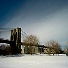 The Brooklyn Bridge under the Snow by cyrilbitton