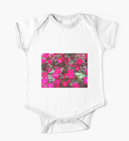 Reflection of Red Roses One Piece - Short Sleeve