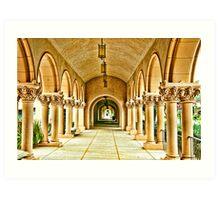 Columns of Casa Del Prado Art Print