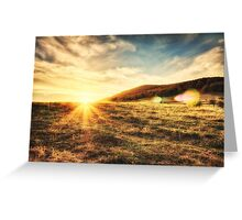 The sun is going down... Greeting Card