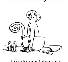 Happiness Monkey by jcwdesigns