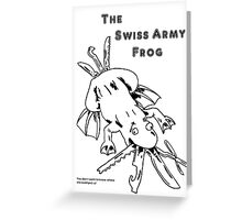 Swiss Army Frog Greeting Card