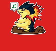 Typhlosion Mens V-Neck T-Shirt