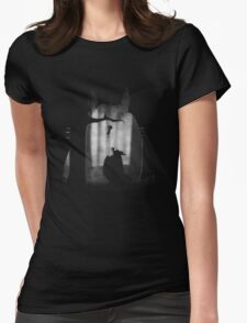 He's gonna eat me Womens Fitted T-Shirt